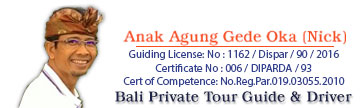 Bali Private Tours with a licensed Tour Guide & Driver